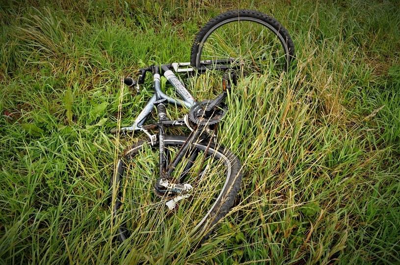Rower 9-latka po wypadku z samochodem /POMORSKA POLICJA /materiały prasowe