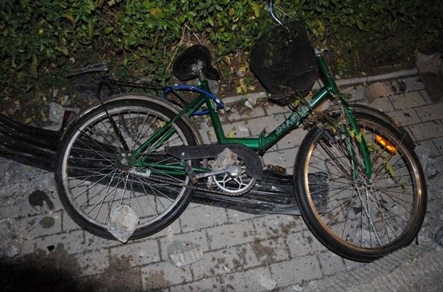 Rower, który prowadziła 10-latka /Policja