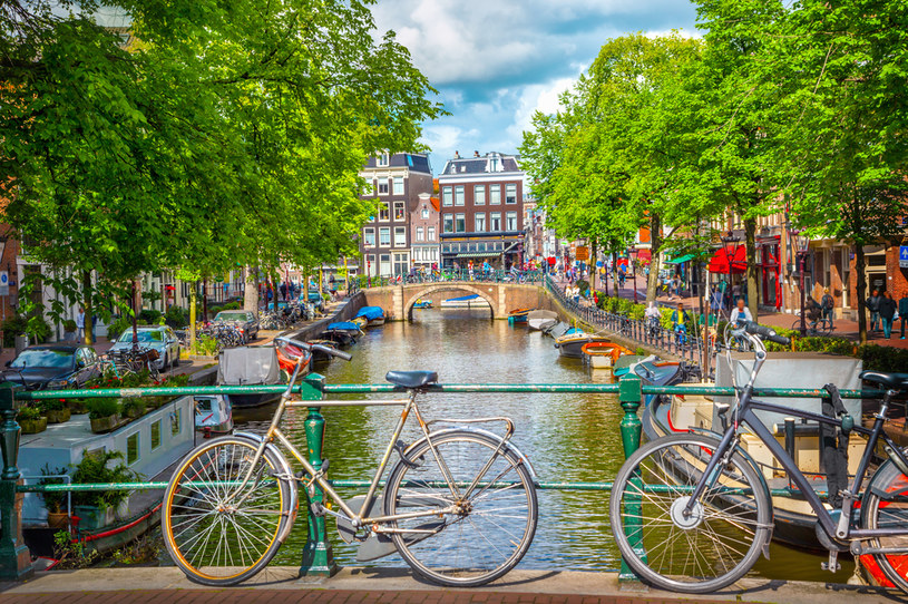 Rower to znakomity środek transportu w Amsterdamie /123RF/PICSEL