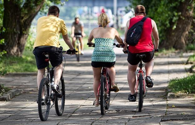 Rowerzystom generalnie nie wolno jeździć po chodniku / Fot: Andrzej Stawiński /Reporter