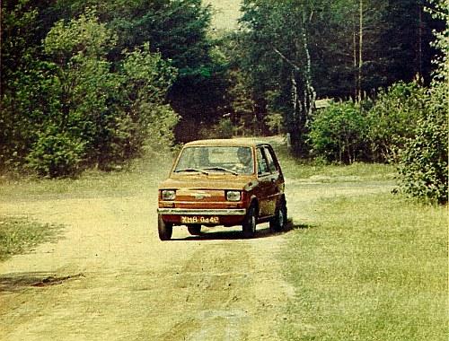 Również i na drogach gruntowych Polski Fiat 126p/650 radzi sobie zupełnie nieźle. Do pomiarów trakcyjnych wykorzystywaliśmy najnowszą aparaturę pomiarową. /Motor