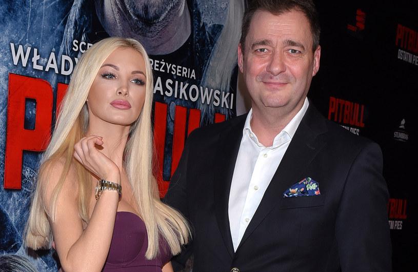 Roxi Gąska i Jacek Rozenek /Andras Szilagyi /MWMedia