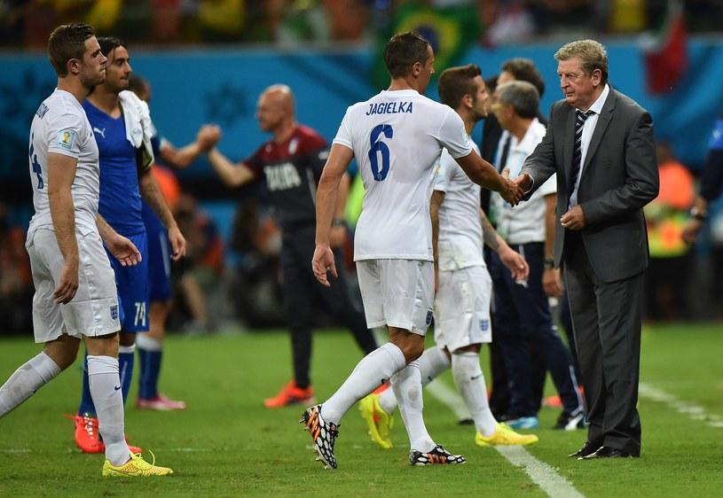 Roy Hodgson i jego piłkarze podczas meczu z Włochami /AFP