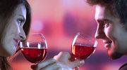 Róża i wino na Walentynki