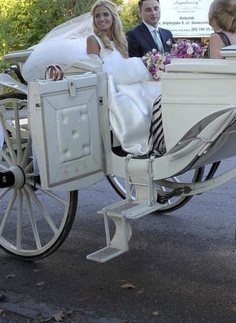Rozalia Mancewicz w dniu ślubu /VIPHOTO /East News