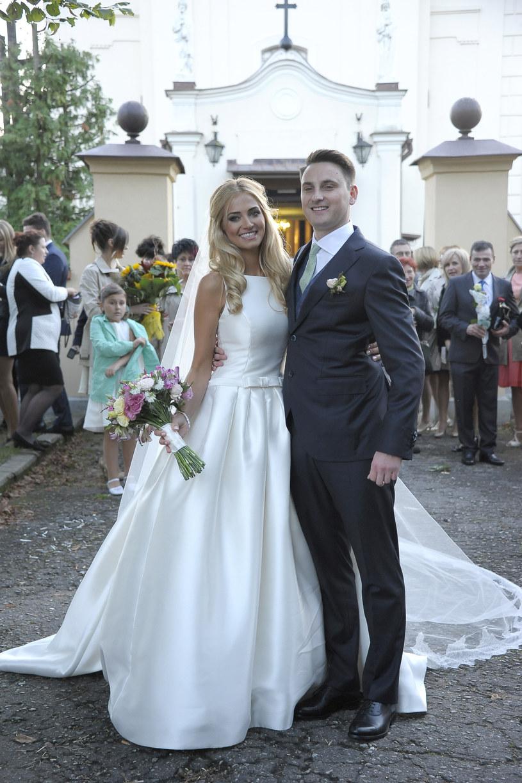 Rozalia Mancewicz w dniu ślubu /MWMedia