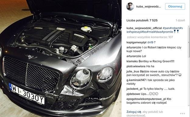 Rozbity Bentley Wojwewódzkiego /