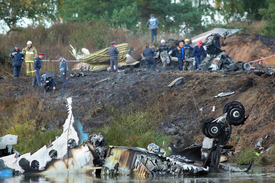 Rozbity samolot lotu Yak Service 9633 /Smirnov Vladimir /PAP/EPA