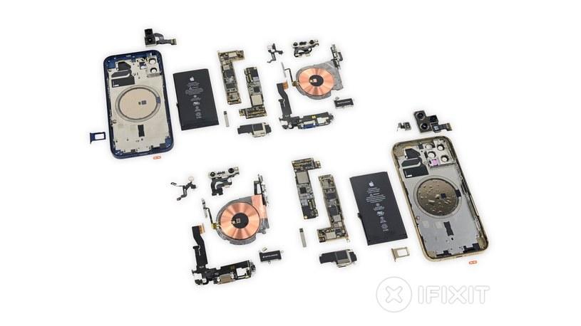 Rozebrany iPhone 12 / fot. iFixit /materiał zewnętrzny