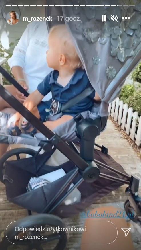 Rozenek chwali się drogim wózkiem na rodzinnym wyjściu, https://www.instagram.com/m_rozenek/ /Instagram