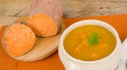 Rozgrzewająca zupa ze słodkich ziemniaków