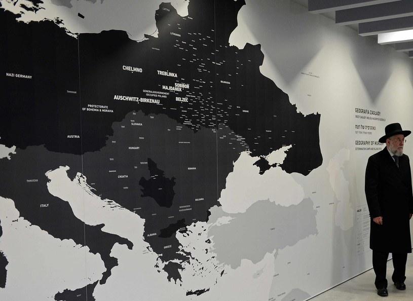 Rozmieszczenie obozów śmierci. Część stałej wystawy w Auschwitz /AFP