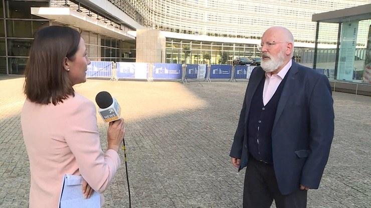 Rozmowa Doroty Bawołek z Fransem Timmermansem /Polsat News
