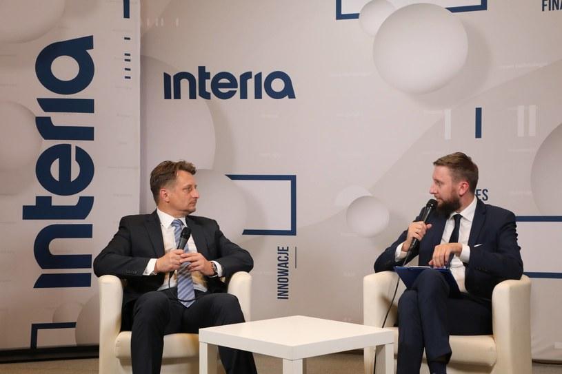 Rozmowa z Krzysztofem Szubertem prezesem NCBR NIF w studiu Interi. /Ireneusz Rek /INTERIA.PL