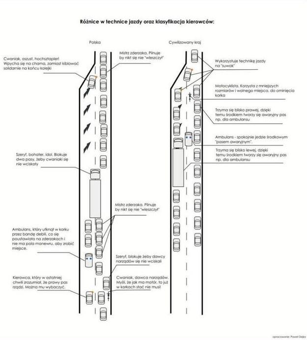 Różnice w zachowaniu kierowców w Polsce i na świecie /
