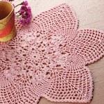 Różowa serwetka-gwiazda