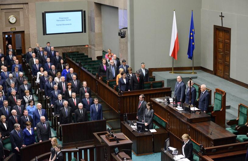 Rozpoczęcie pierwszego posiedzenia Sejmu VIII kadencji /Jacek Turczyk /PAP