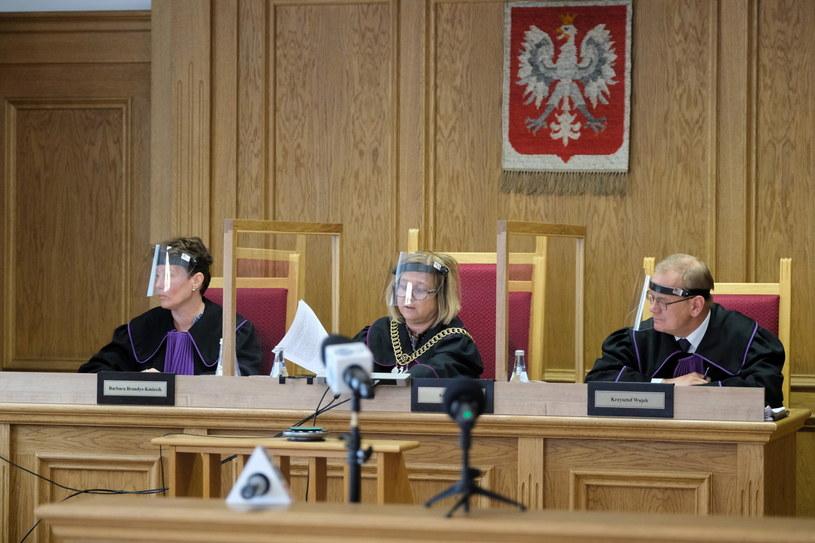 """Rozprawa WSA w Gliwicach, na której stwierdzono nieważność uchwały """"anty-LGBT"""" Rady Gminy Istebna. /Hanna Bardo /PAP"""