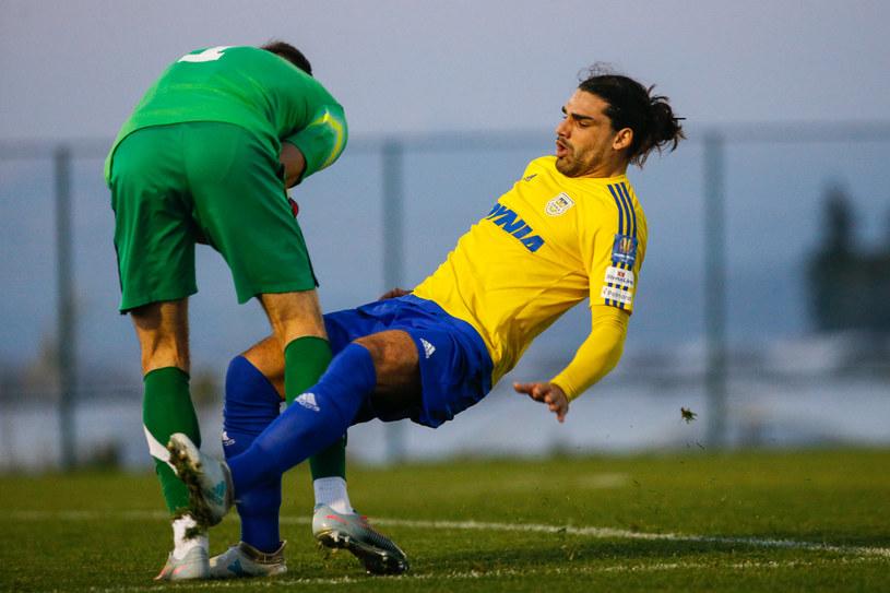 Ruben Jurado podczas meczu sparingowego /GRZEGORZ RADTKE /Newspix