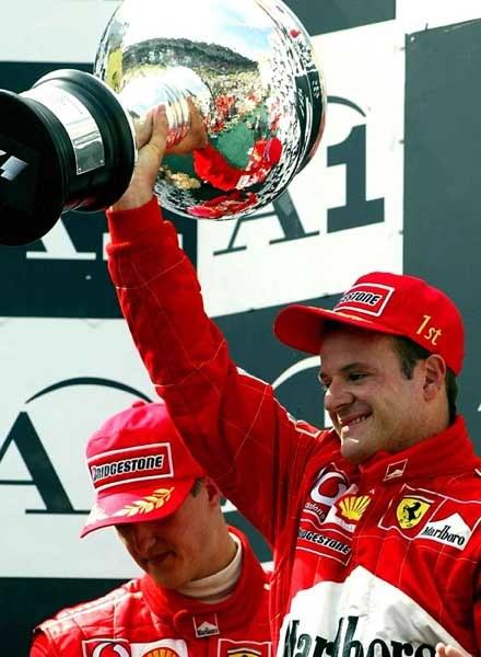 Rubens Barrichello po GP Austrii stanął na najwyższym stopniu podium (kliknij) /poboczem.pl