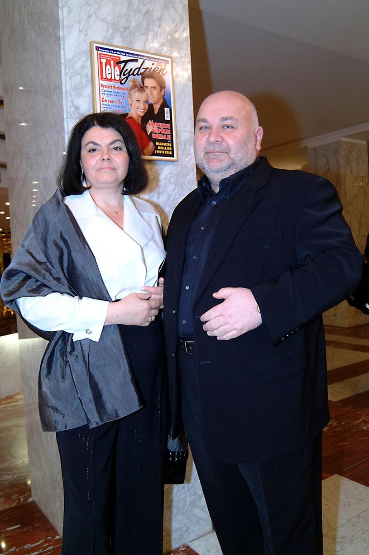Rudi Schuberth z żoną Małgorzatą /Prończyk /AKPA
