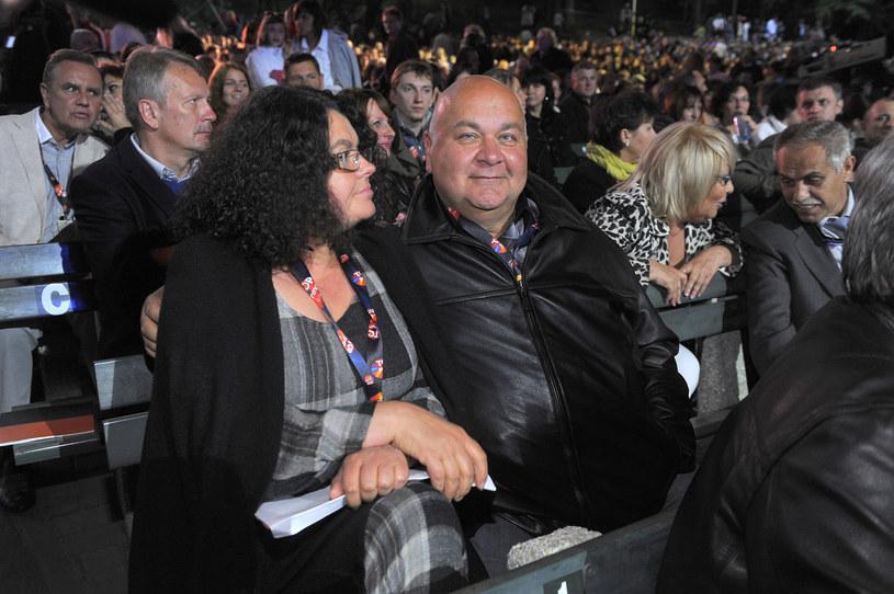 Rudi Schuberth z żoną /Baranowski /AKPA