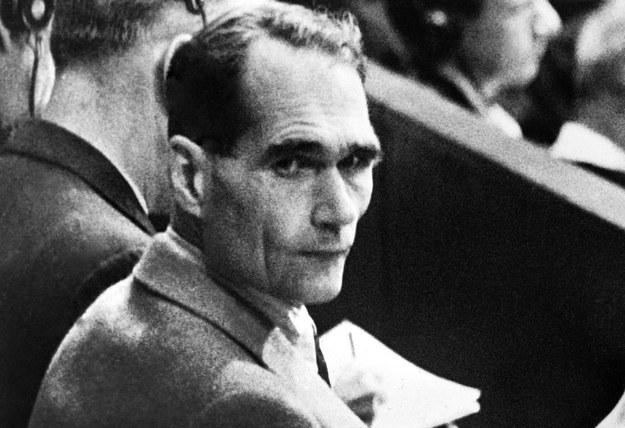 Rudolf Hess w czasie procesów norymberskich /STRINGER /AFP