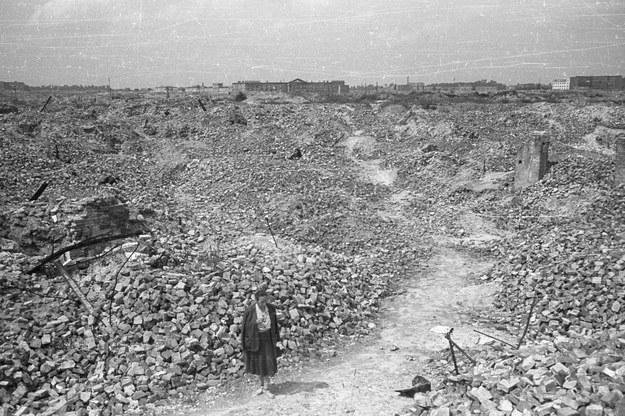 Ruiny getta warszawskiego /Stanisław Dąbrowiecki/CAF /PAP