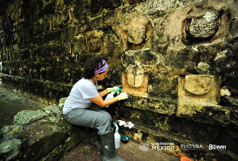Ruiny miasta odkryto w meksykańskiej dżungli /Fot. INAH /materiały prasowe