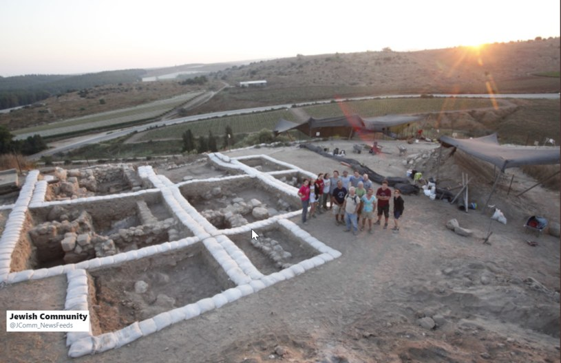 Ruiny odkrytej świątyni /Twitter