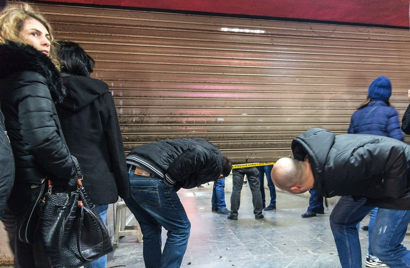 Runął sufit na stacji metra /Levan Avlabreli /East News
