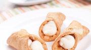 Rurki z kremem kokosowym