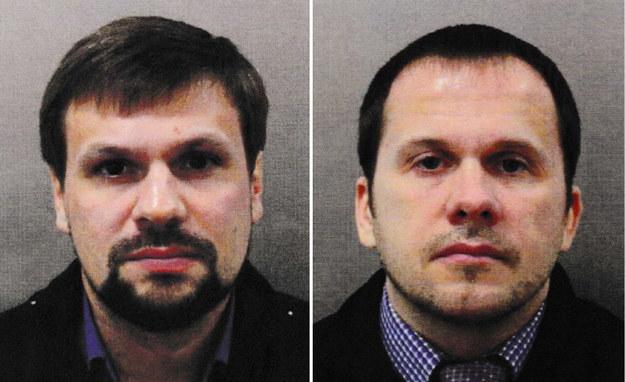 Rusłan Boszyrow i Aleksander Pietrow podejrzani o przeprowadzenie zamachu na Siergieja Skripala i jego córkę /LONDON METROPOLITAN POLICE/HANDOUT /PAP/EPA