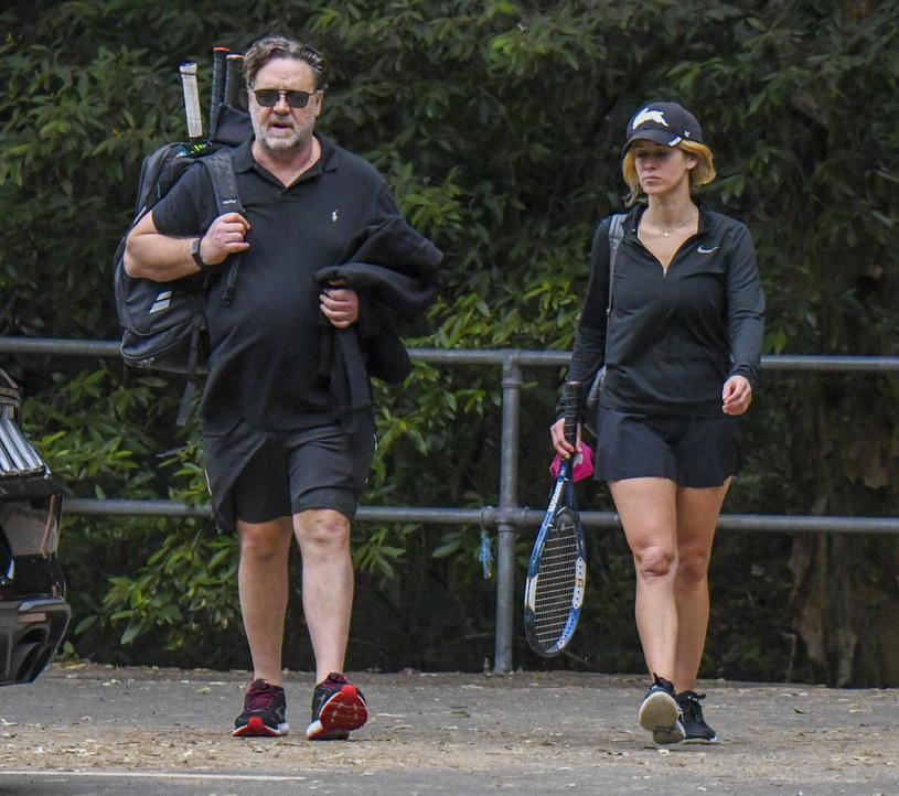 Russel Crowe i Britney Theriot poznali się na planie jednego z filmów /Media-Mode / SplashNews.com/East News /East News