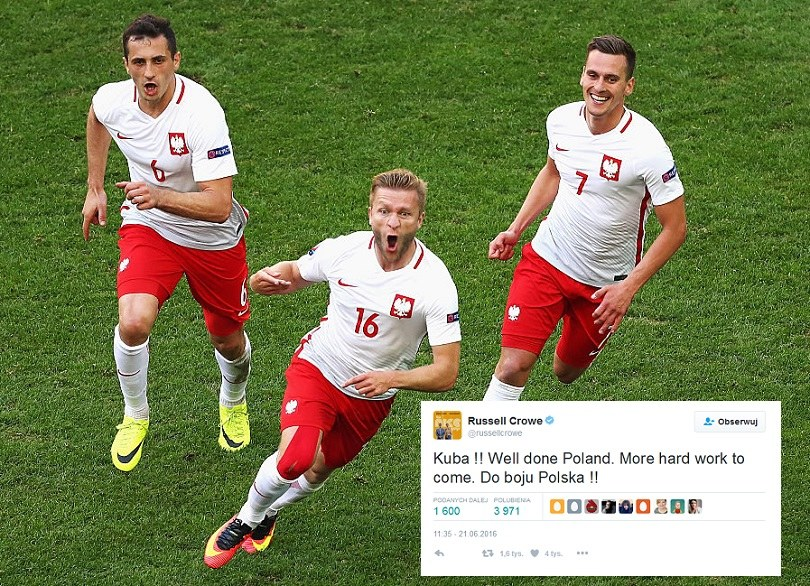 Russel Crowe to już kibic naszej drużyny! /Getty Images