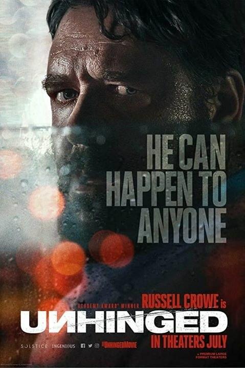 "Russell Crowe na plakacie filmu ""Unhinged"" /materiały prasowe"