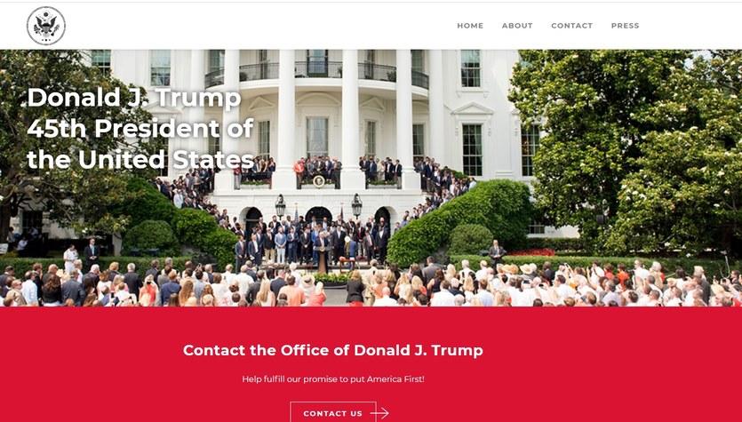 Ruszyła strona Donalda Trumpa. Chce pozostać w kontakcie z wyborcami