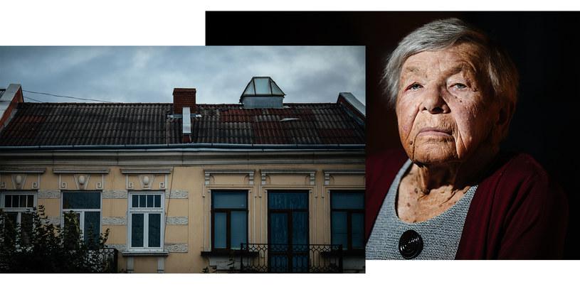 Ruta Wermuth i jej dom ze świetlikiem w Kołomyi. Fot. Maciej Stanik/Wirtualna Polska /