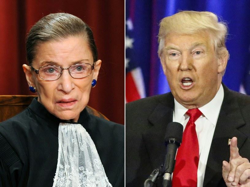 Ruth Bader Ginsburg i Donald Trump /AFP