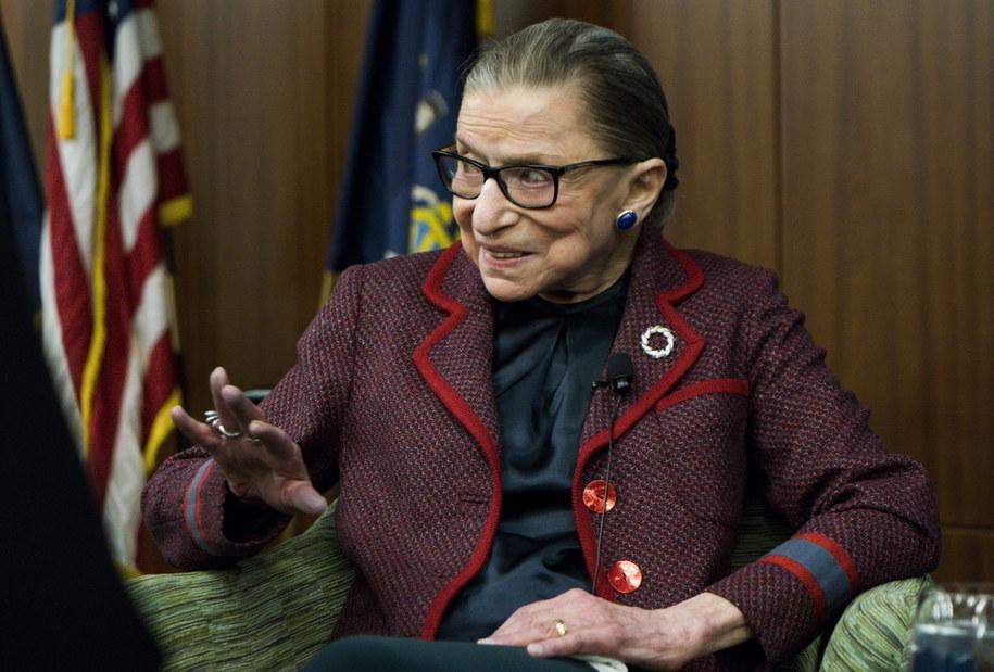 Ruth Bader Ginsburg zmarła w wieku 87 lat /JUSTIN LANE /PAP/EPA
