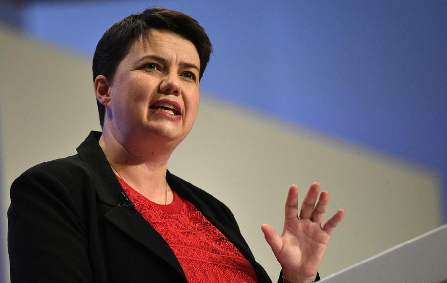 Ruth Davidson zrezygnowała z funkcji lidera Szkockiej Partii Konserwatywnej /NEIL HALL /PAP/EPA
