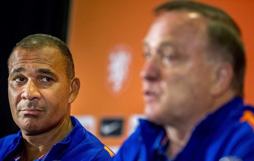 Ruud Gullit (z lewej) i selekcjoner Holandii Dick Advocaat /AFP