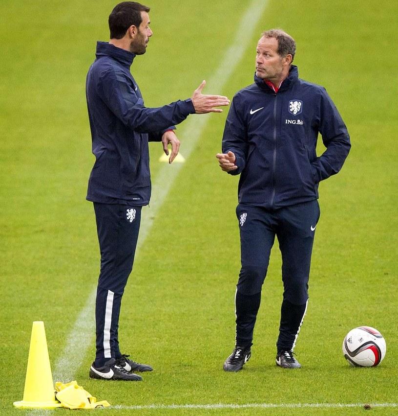 Ruud van Nistelrooy (z lewej) i Danny Blind /AFP