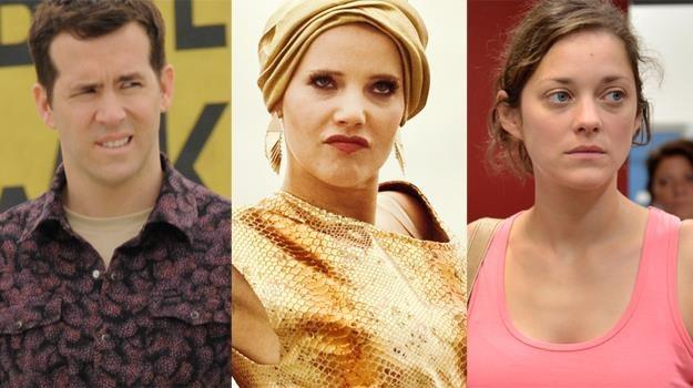 """Ryan Reynolds (""""Głosy""""), Joanna Kulig (""""Disco polo"""") i Marion Cotillard (""""Dwa dni, jedna noc"""") /materiały prasowe"""