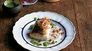 Ryba z sosem z kalafiora i pistacji z kindzmari
