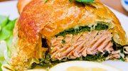 Ryba zapiekana z oscypkiem i szpinakiem