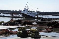 Rybacka wioska po przejściu tsunami