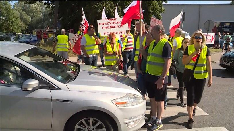 Rybacy blokują jedną drogę na Półwysep Helski /Polsat News /