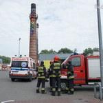 Rybnik: Desperat wspiął się na komin