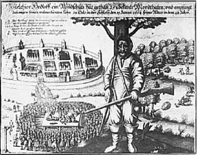 Rycina przedstawiająca Melchiora Hedloffa i jego kaźń /INTERIA.PL/materiały prasowe